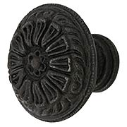 Petal Design Cast-Iron Cabinet Knob (item #R-08MG-351X)