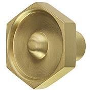 Hex Nut Solid-Brass Cabinet Knob (item #R-08MG-SB347X)
