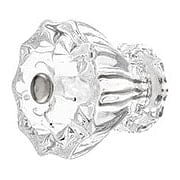 Large Fluted Glass Cabinet Knob With Nickel Bolt (item #R-08MH-F150X)