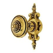Portobello Jeweled Knob With Pembridge Back Plate (item #R-08NH-210-512X)