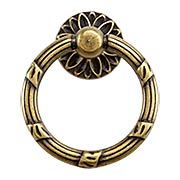 Ribbon and Reed Ring Pull With Flower Motif (item #R-08RM-09236-04200X)