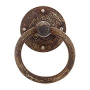 Steel Ring Pull In Distressed Rust Finish (item #R-08RM-12995-05000-27)