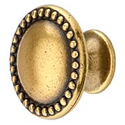 Beaded Border Cabinet Knob - 1 3/16