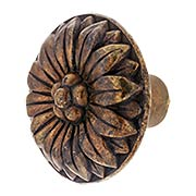 Flower Pattern Cabinet Knob - 1 1/4