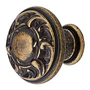 Small Scroll Design Cabinet Knob - 1