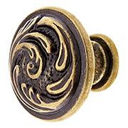 Small Swirl Design Cabinet Knob - 1