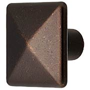 Small Pyramid-Style Cabinet Knob - 1
