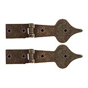 Pair of Antique-Rust Spear Point Cabinet Strap Hinges - 5 5/16-Inch x 1 13/16-Inch (item #R-08RM-48038-14000-27)