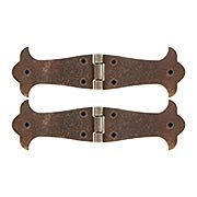 Pair of Antique-Rust Cabinet Hinges - 6 5/8-Inch x 2-Inch (item #R-08RM-48094-16700-27)