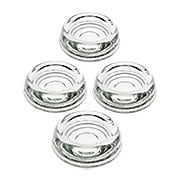 Set of 4 Glass Furniture Caster Cups - 2 9/16