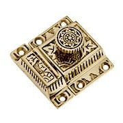 Solid Brass Oriental-Pattern-Turn Latch (item #R-08SE-0600007X)