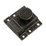 Cast Iron Windsor Pattern Cabinet Latch With Round Knob In Antique Iron (item #R-08SE-0600014-AI)