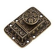 Cast Brass Butterfly Pattern Turn Latch In Antique By Hand (item #R-08SE-0600024-ABH)