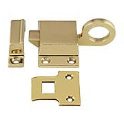 Solid-Brass Transom Window Latch with Box Strike (item #R-09BM-8705X)