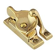 Solid-Brass Crescent Sash Lock (item #R-09BM-8708X)
