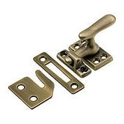 Solid Brass Casement Latch Set  In Antique-By-Hand Finish (item #R-09BM-8811-ABH)