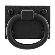 Cast Iron Shutter Ring Pull With Black Primer Finish (item #R-09JW-550)