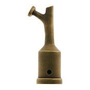 Solid Brass Transom Window Latch Hook In Antique-By-Hand (item #R-09MG-TRHK-ABH)