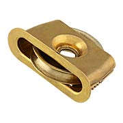 Wrought Brass Press-Fit Sash Pulley - 2-Inch Diameter Wheel (item #R-09MH-471X)