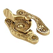 Floral Victorian Sash Lock In Solid Brass or Bronze (item #R-09SE-0700472X)