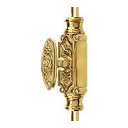 Filigree Brass Cremone Bolt - 9-Foot Length (item #R-09SE-502X)