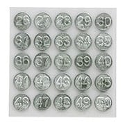 Set Of Tacks Numbered 26-50 For Wooden Screens And Storm Windows (item #R-09SR-ANT-2650)