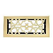 Chateau Solid-Brass Register with Adjustable Damper (item #RS-010BA-A03-VRX)
