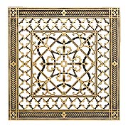 Carnegie Resin Return-Air Grille in Antique Brass Color (item #RS-010BAC-CG-209-ABX)
