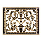 Louis XIV Resin Return-Air Grille in Antique Brass Color (item #RS-010BAC-RR-203-ABX)