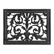 Louis XIV Resin Return-Air Grille in Matte Black Color (item #RS-010BAC-RR-203-BLKX)