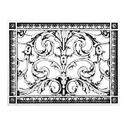 Louis XIV Resin Return-Air Grille with Nickel Color (item #RS-010BAC-RR-203-NIX)