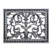 Louis XIV Resin Return-Air Grille with Pewter Color (item #RS-010BAC-RR-203-PWX)