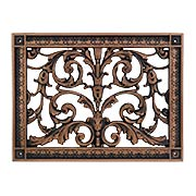 Louis XIV Resin Return-Air Grille in Oil-Rubbed Bronze Color (item #RS-010BAC-RR-203-RBX)