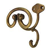 Hat & Coat Hook in Aged Brass (item #RS-010CL-101495-03)