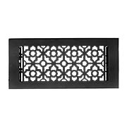 Pasadena Cast Aluminum Floor Register With Satin Black Finish (item #RS-010HC-HVC-BPCX)