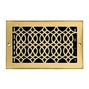 Strathmore Solid Brass Wall Register (item #RS-010HC-SVW-210X)