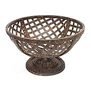 Metal Pedestal Basket (item #RS-011AG-G39)