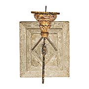 Anette Antiqued Square Candle Sconce (item #RS-011AG-WC29)