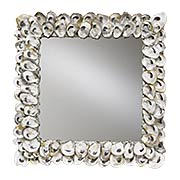 Oyster Shell Square Mirror (item #RS-011CU-1348)