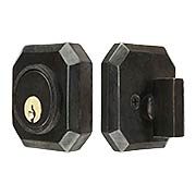 Solid Bronze Angular Single-Cylinder Deadbolt (item #RS-01AN-4115X)