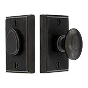 Solid Bronze Rectangular Privacy Bolt (item #RS-01AN-SQ587X)