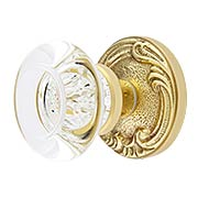 Lafayette Rosette Door Set With Empire Door Knobs (item #RS-01BA-D02-K286A-MPRX)