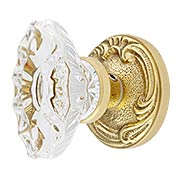 Lafayette Rosette Door Set With Fluted Oval Crystal Glass Knobs (item #RS-01BA-D02-K286A-SVNX)