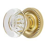 Charleston Rosette Door Set With Empire Door Knobs (item #RS-01BA-D06-K010A-MPRX)