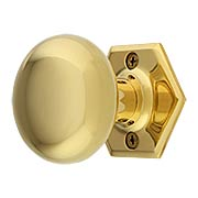 Hexagonal Rosette Door Set with Wrought Brass Knobs (item #RS-01BM-8746-8876X)