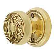 Classic Rosette Door Set with Victorian Brass Knobs (item #RS-01BM-8752-8873X)