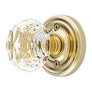 Classic Rosette Set With Diamond Crystal Glass Knobs (item #RS-01EM-8100CKX)
