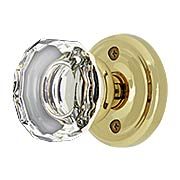 Classic Rosette Door Set with Lowell Crystal Glass Knobs (item #RS-01EM-8100LWX)
