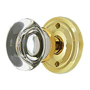 Classic Rosette Door Set with Providence Crystal Glass Knobs (item #RS-01EM-8100PCX)