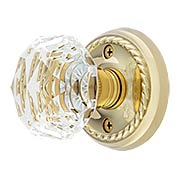 Classic Rope Rosette Set With Diamond Crystal Glass Knobs (item #RS-01EM-8101CKX)